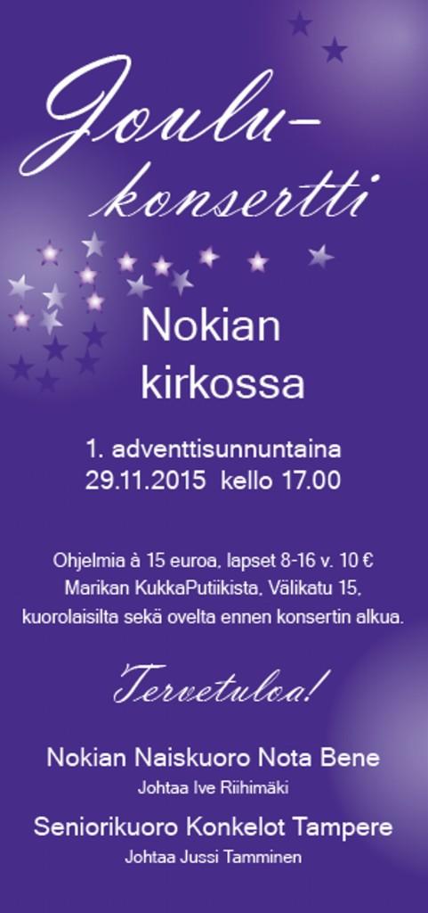 Joulukonsertin mainos 2015