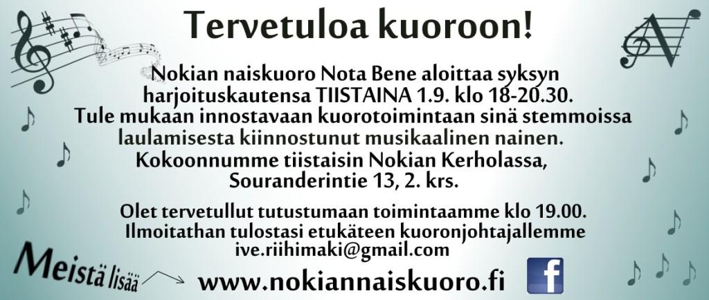 Kuorokauden aloituksen mainos syksy 2015 NU_110815